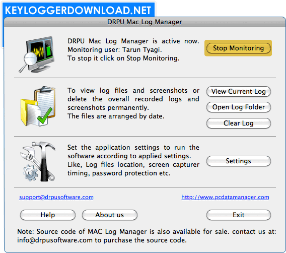 Keylogger Download Software For Mac OS X